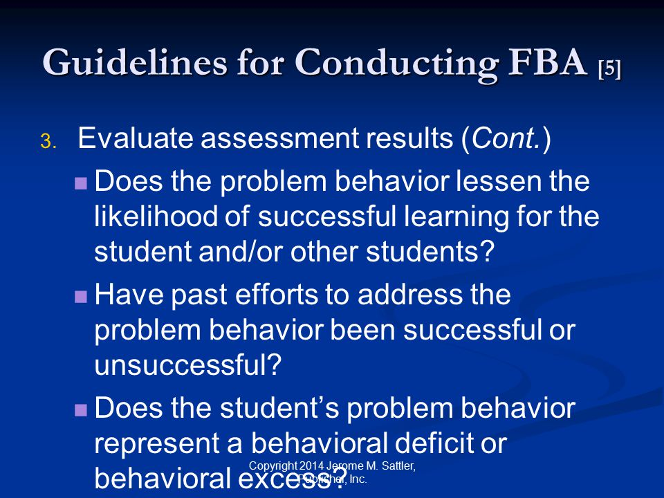 Guidelines for Conducting FBA [5]